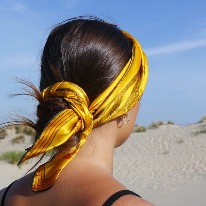 golden sea silk scarf